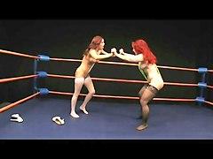 Mature vs milf redhead wedgie war